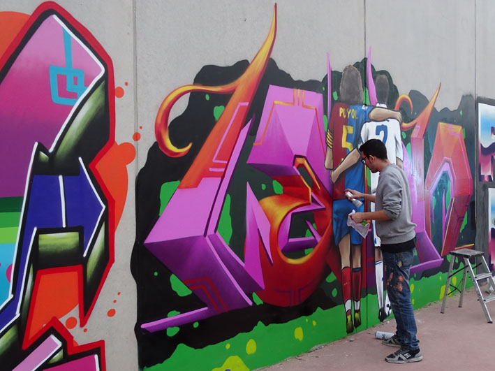 Rafal celebrates the III Urban Art contest to promote the cleaning of the municipality