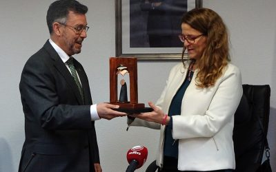 The Minister of Agriculture, Environment, Climate Change and Rural Development, Elena Cebrián, visits Rafal