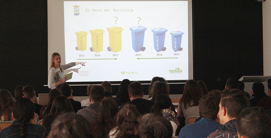 Rafal viu una intensa jornada amb la campanya 'El repte del reciclatge'