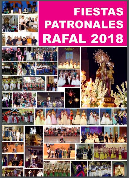 Descàrrega el llibre de las Festes de Rafal 2018