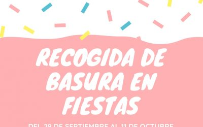 Schedule Trash Pickup Fiestas Rafal 2018