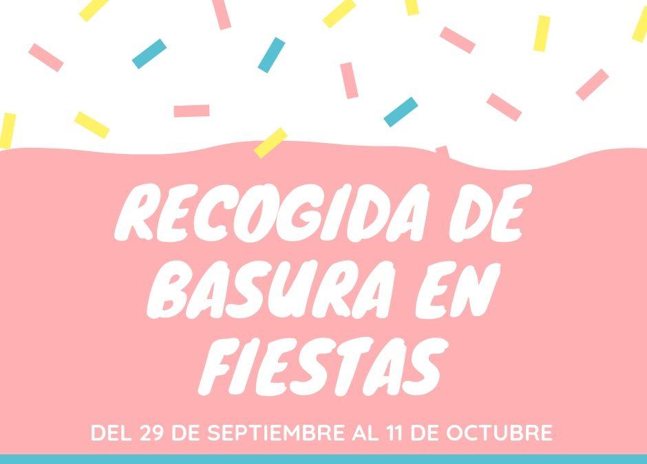 Schedule Trash Pickup Fiestas Rafal 2018