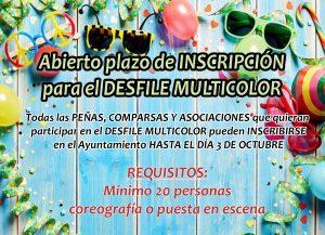 Inscripció Desfile Multicolor