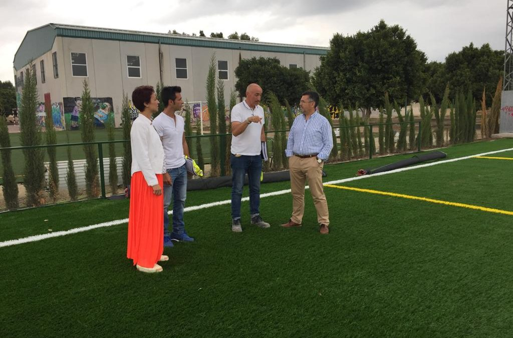 The City Council of Rafal adds 18,700 euros to the reform of the football field to complete the remodeling project