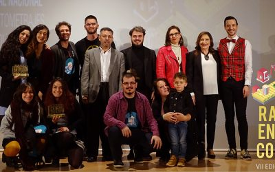 """""""Macaroni with Tomato"""", by Javier Alba, stands with the award for Best National Short Film by Rafal in Corto"""