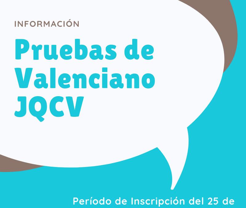Call Valencian Tests JQCV