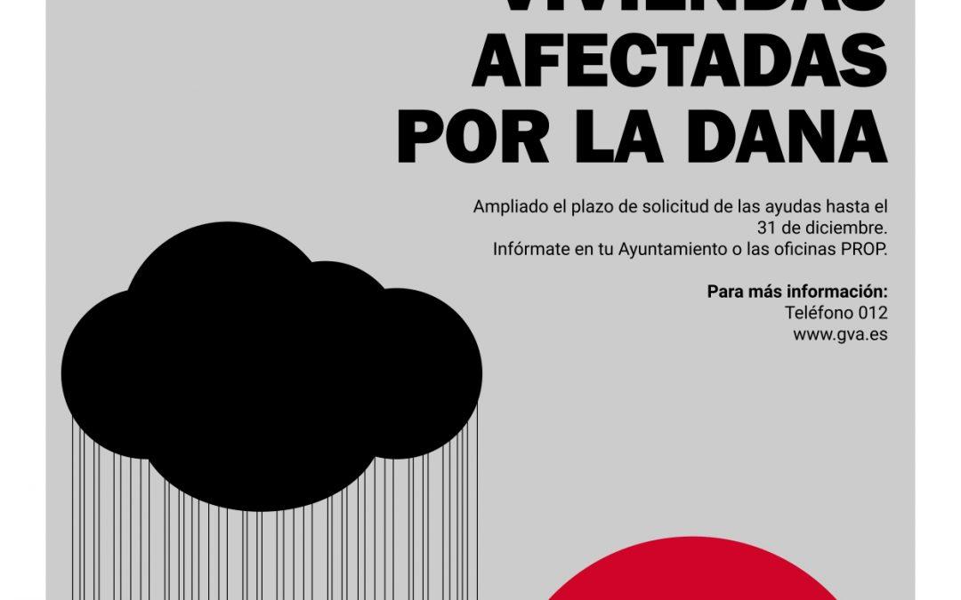 Ampliación del Plazo para la solicitud de Ayudas Urgentes Viviendas afectadas por la DANA
