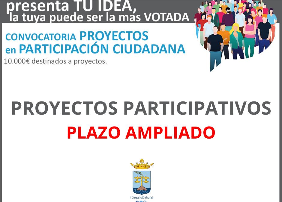 Ampliación presentación proyectos Presupuestos Participativos
