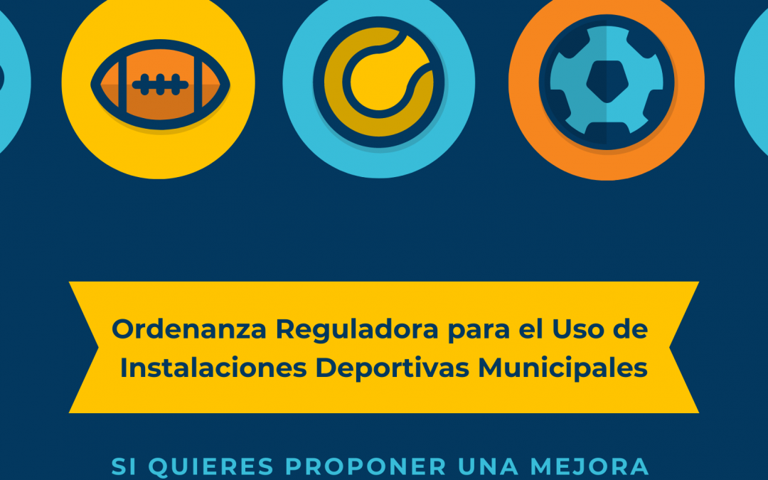 Apertura período de aportaciones para la Ordenanza Reguladora de las Normas de Usos de Instalaciones Deportivas Municipales