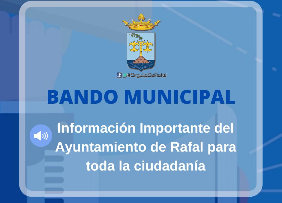 Bando Municipal – Suspensión de Actividades por COVID-19