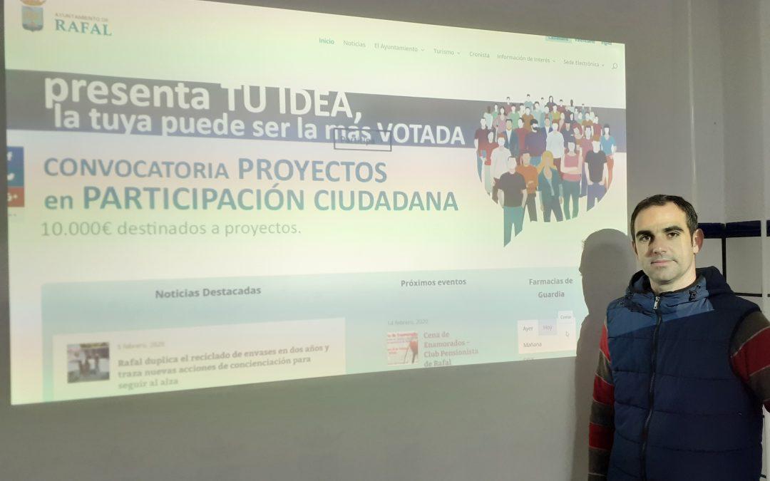 Rafal inicia el proceso de votación de los nueve proyectos presentados a los presupuestos participativos de este año