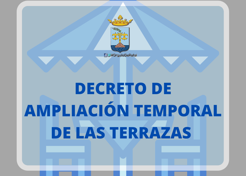 Declaración Responsable para la ampliación de terrazas en establecimientos de restauración de Rafal