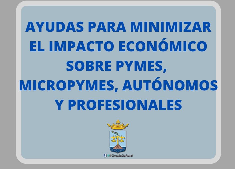 Bases y convocatoria Ayudas dirigidas a pymes, micropymes, personas autónomas y profesionales del municipio del Rafal