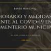 Bando con el horario y las medidas a adoptar frente al COVID-19 en el cementerio municipal