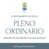 Pleno ordinario del Ayuntamiento de Rafal 18 de diciembre de 2020