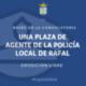 Bases que rigen la convocatoria para proveer en propiedad una plaza de agente de la Policía Local de Rafal, por oposición libre