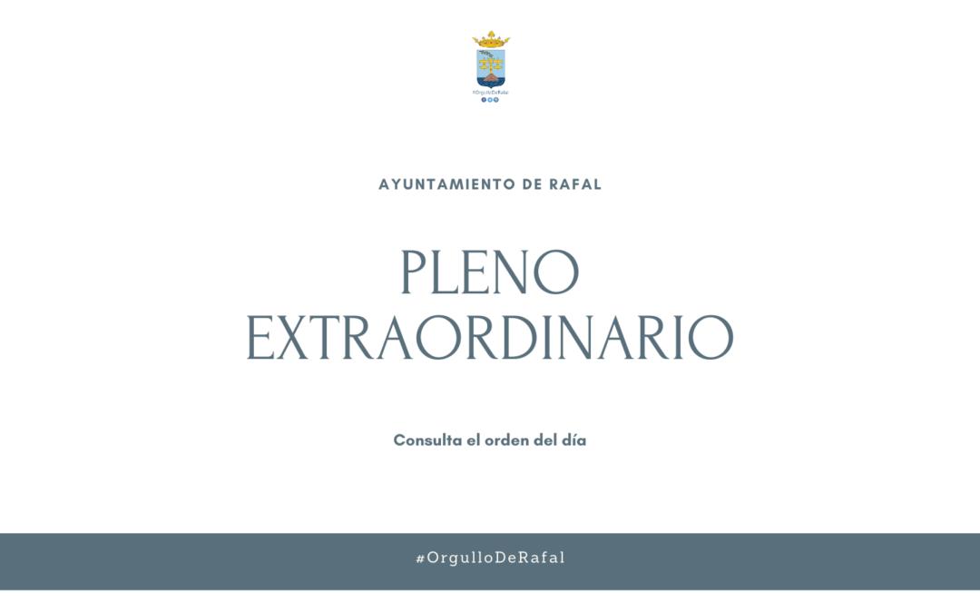 Pleno Extraordinario del Ayuntamiento de Rafal 3 de febrero de 2021