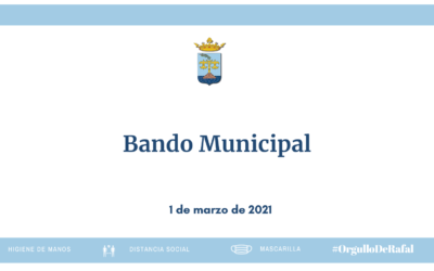 Bando municipal 1 de marzo de 2021