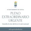 Pleno Extraordinario Urgente del Ayuntamiento de Rafal, 17 de mayo de 2021