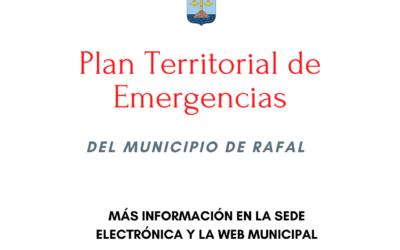 Información Pública del Plan Territorial de Emergencia del municipio de Rafal