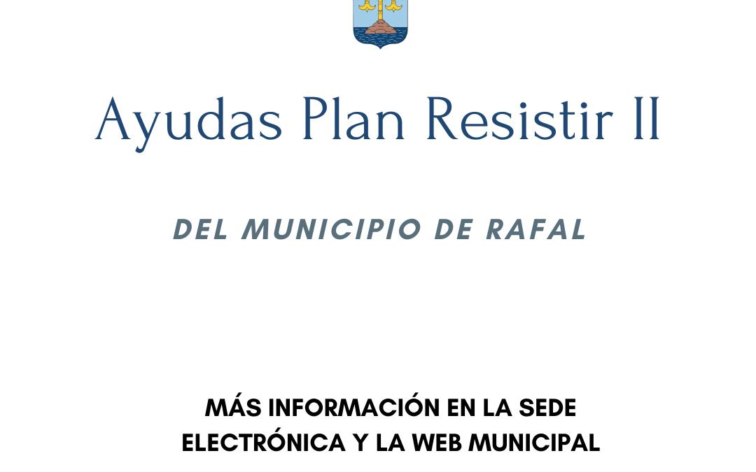 Presentación de solicitudes II Convocatoria Plan Resistir del Ayuntamiento de Rafal