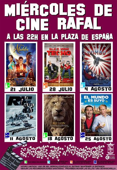 Rafal apuesta por la cultura segura con el retorno a la Plaza de España de los 'Miércoles de cine' este verano